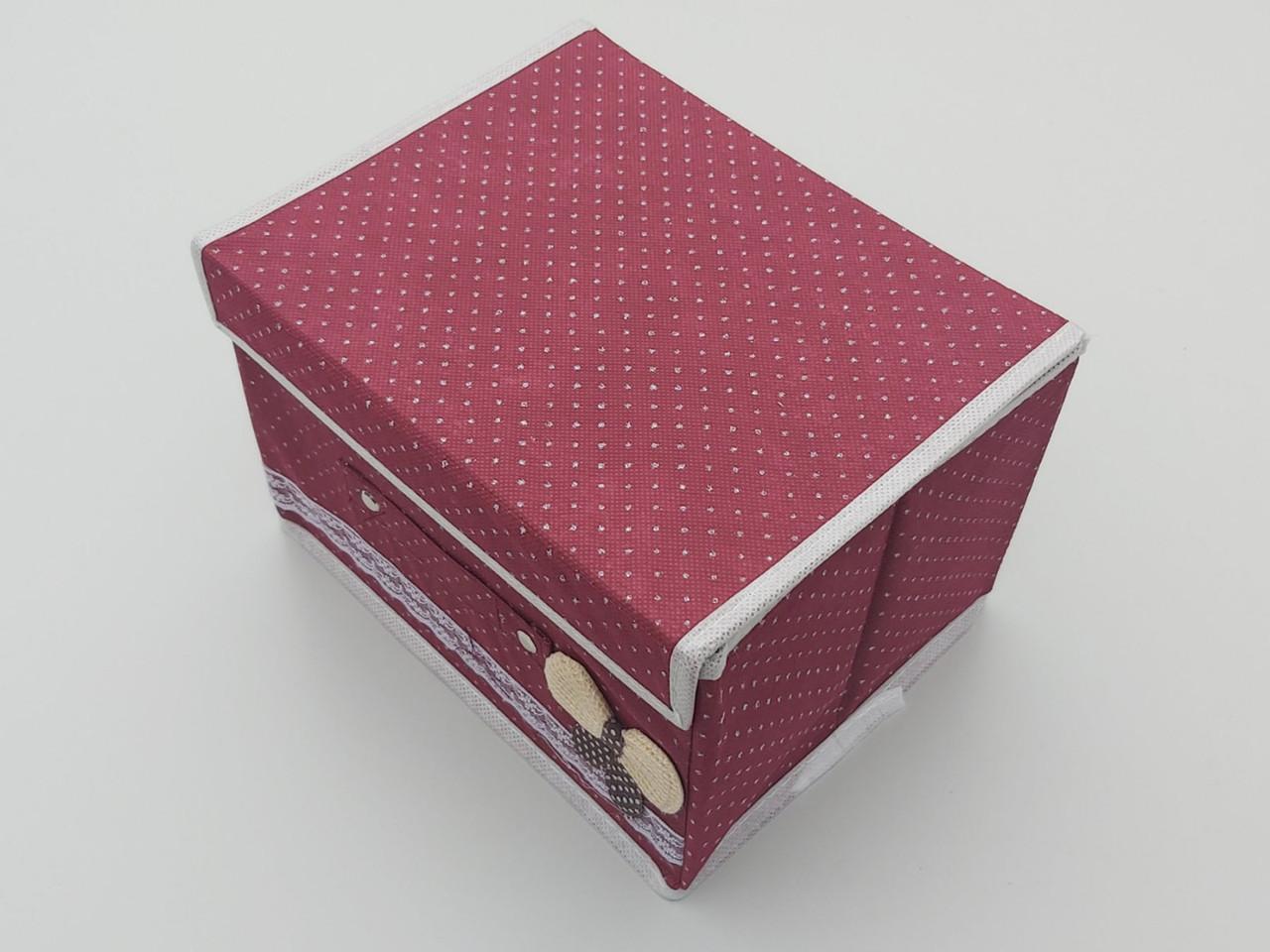 Коробка для хранения цвет бордовый