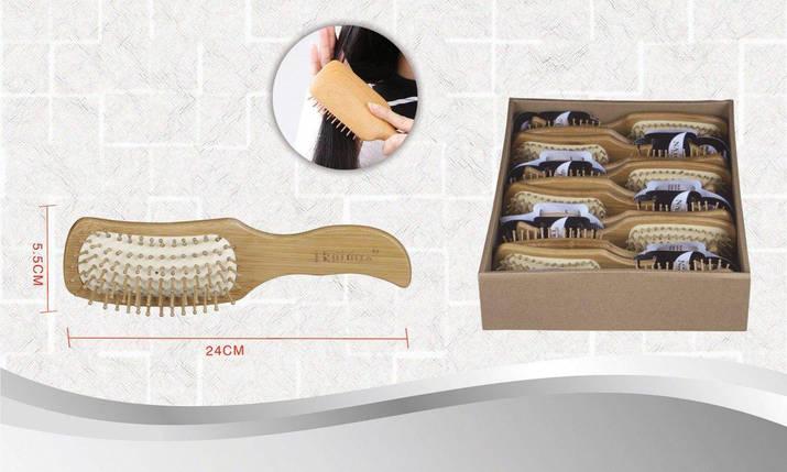 Расческа для волос из натурального дерева 5.5х24 см Bathlux 90551, фото 2