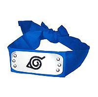 Синяя Повязка из Наруто с символикой Деревни Скрытой В Листве, косплей, cosplay Naruto
