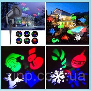 Вуличний лазерний проектор FESTIVAL PROJECTION LAMP 326-02 | Новорічний лазерний проектор