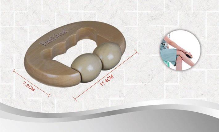 Массажер роликовый банный с ручкой 7.2х11.4 см Bathlux 90542, фото 2