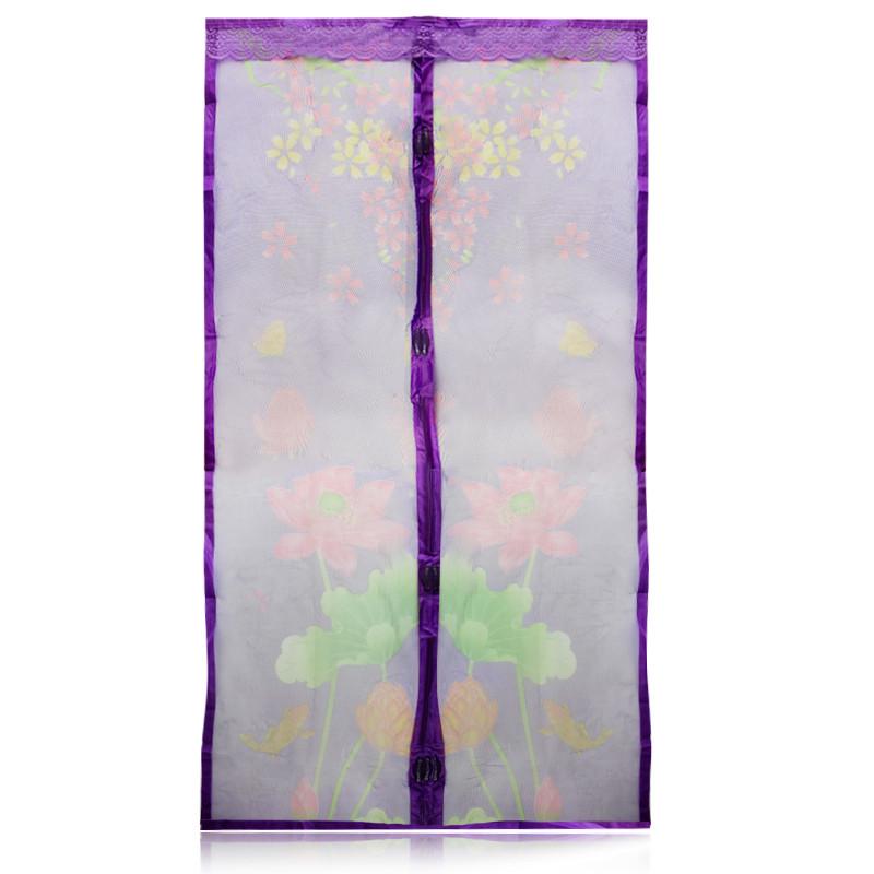 Противомоскитные магнитные шторы на магнитах 90210 см Magic Mesh фиолетовые 149819