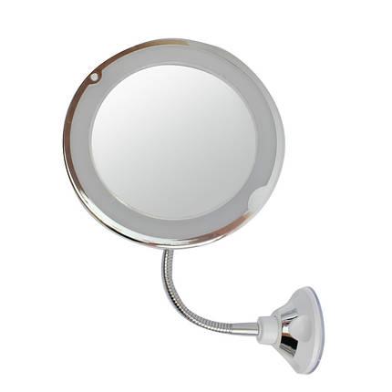 Зеркало гибкое на присоске косметическое 5X Ultra Flexible Mirror 150077, фото 2