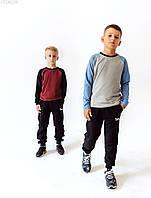 Детский лонгслив Staff gray & blue