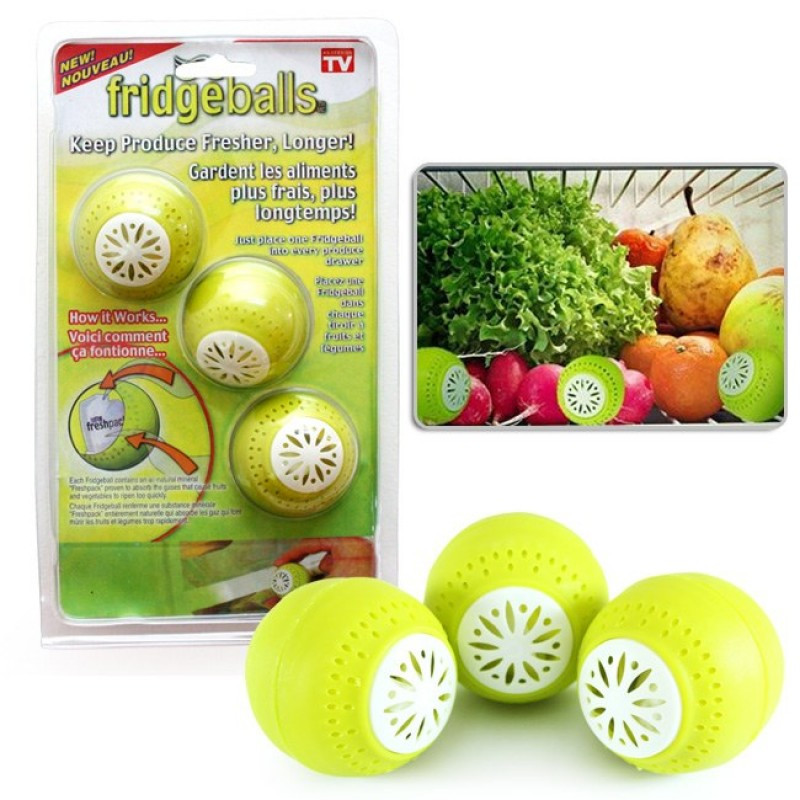 Шарики в холодильник 3 шт для удаления запаха Fridge Balls 150708