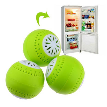 Шарики в холодильник 3 шт для удаления запаха Fridge Balls 150708, фото 2