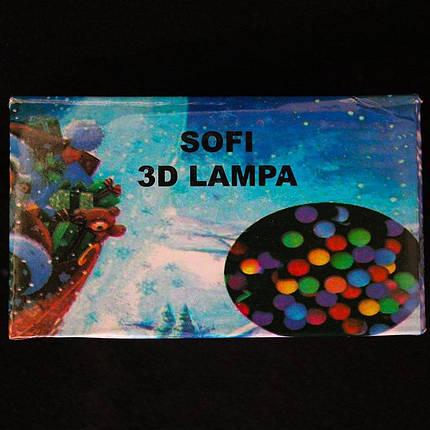 Светодиодная гирлянда Sofi 3D Lampa Глянцевая черная 400 Led 40 м 132922, фото 2