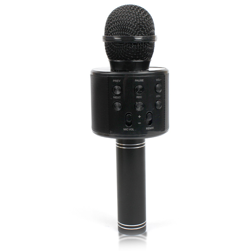 Микрофон караоке Bluetooth WS858 black чёрный 141122