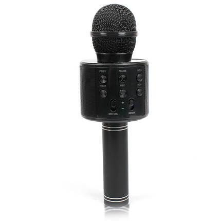 Микрофон караоке Bluetooth WS858 black чёрный 141122, фото 2