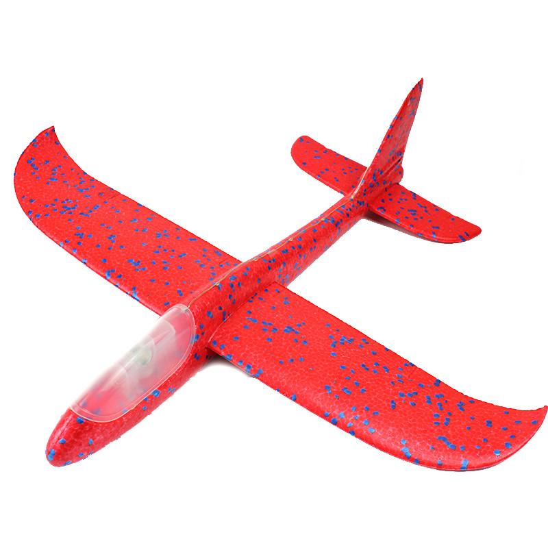 Детский планирующий самолетик с подсветкой хвоста 49 см красный 149845