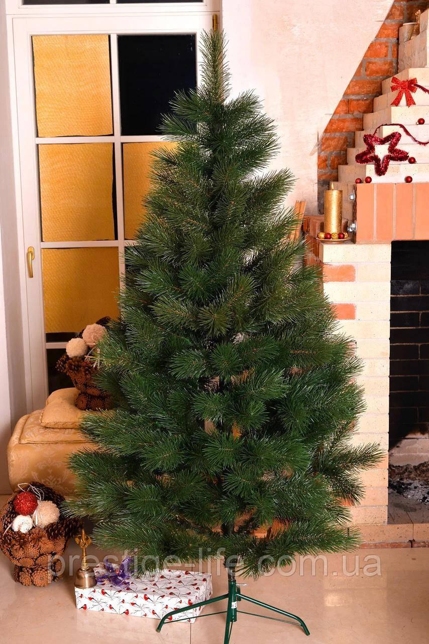 "Сосна штучна Лита ""Царська"" висота 230 см діаметр 140 см Зелена + Подарунок, Гірлянда"