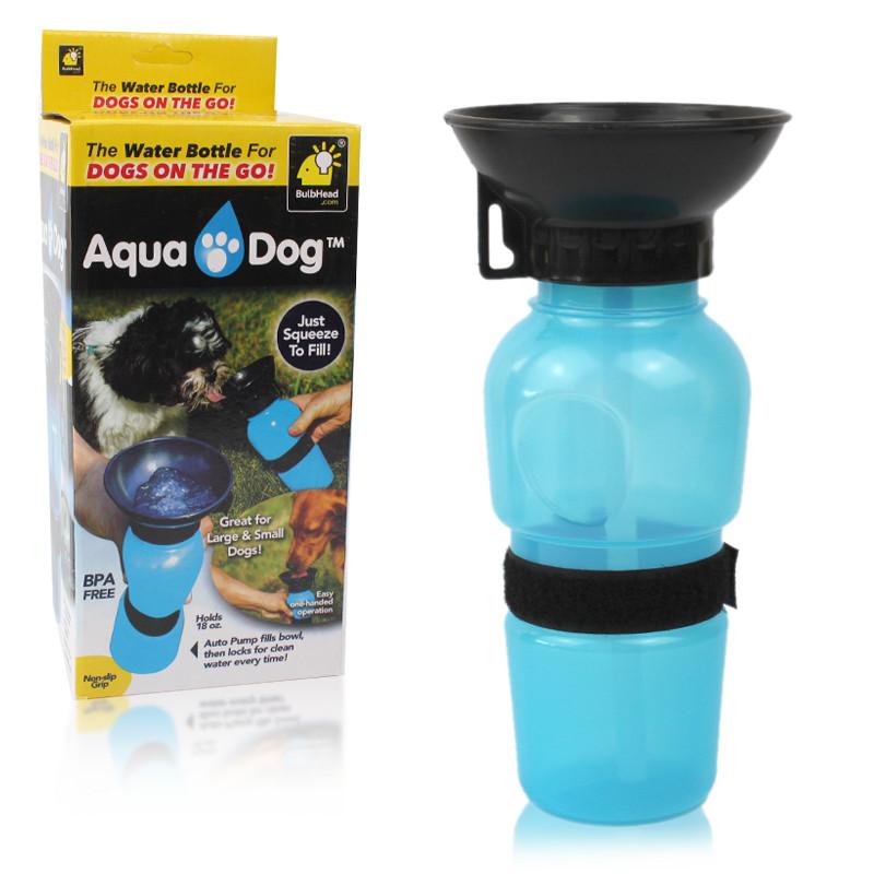 Поилка для собак ручная бутылка 550 мл Aqua Dog 149802