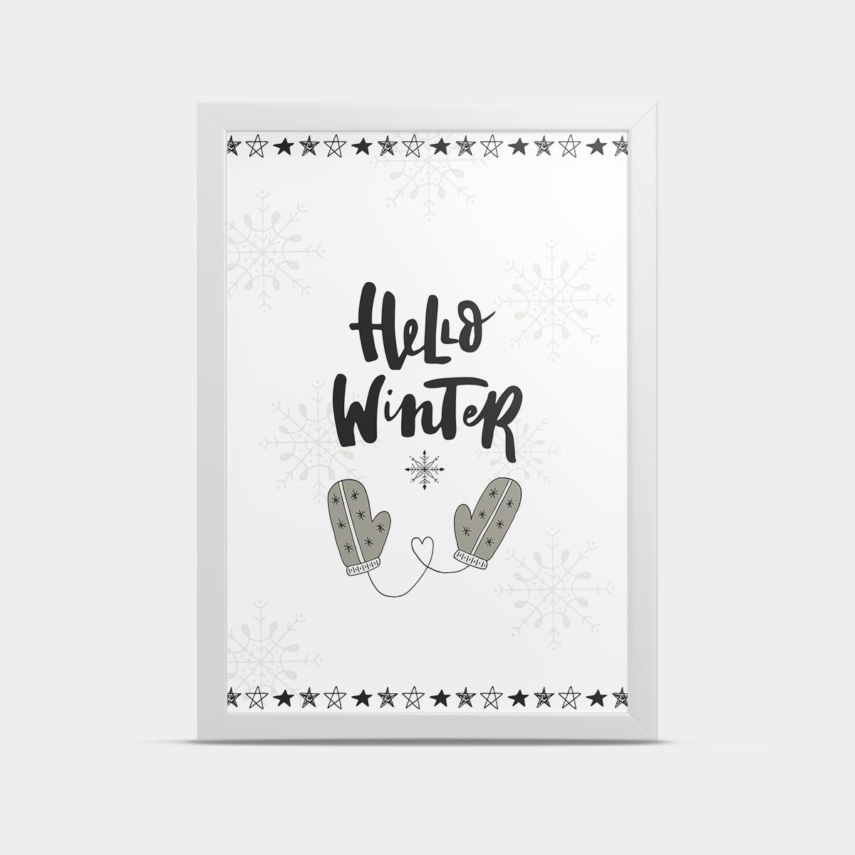 Постер Hello winter 30*40 см