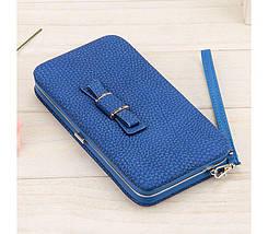 Кошелек женский клатч портмоне Baellerry n1330 Синий 170655, фото 3
