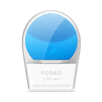 Силіконова щітка-масажер для чищення особи Foreo Luna mini 2 блакитна 154033, фото 2