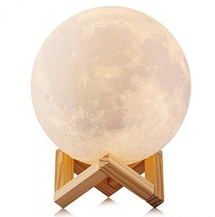 Настольный светильник ночник Луна 13 см Magic 3D Moon Light Touch Control 179845