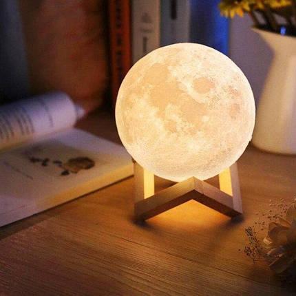 Настольный светильник ночник Луна 13 см Magic 3D Moon Light Touch Control 179845, фото 2