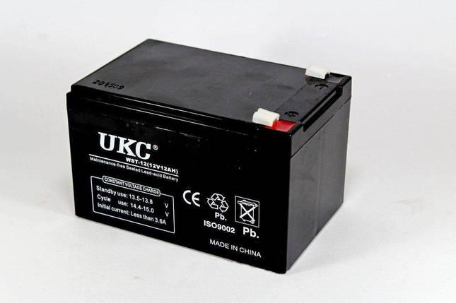 Аккумулятор Battery 12V 12A Ukc 180282, фото 2