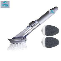 Щетка с длинной ручкой с дозатором моющего средства Wok Brush 150165, фото 2