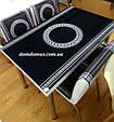 """Комплект обідній меблів """"Версаче"""" (стіл ДСП, гартоване скло + 4 стільця) Mobilgen, Туреччина, фото 2"""
