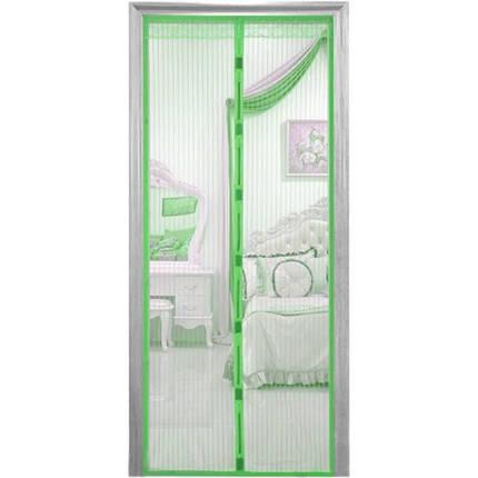 Противомоскитные магнитные шторы на магнитах 90210 Magic Mesh зеленые 181755, фото 2