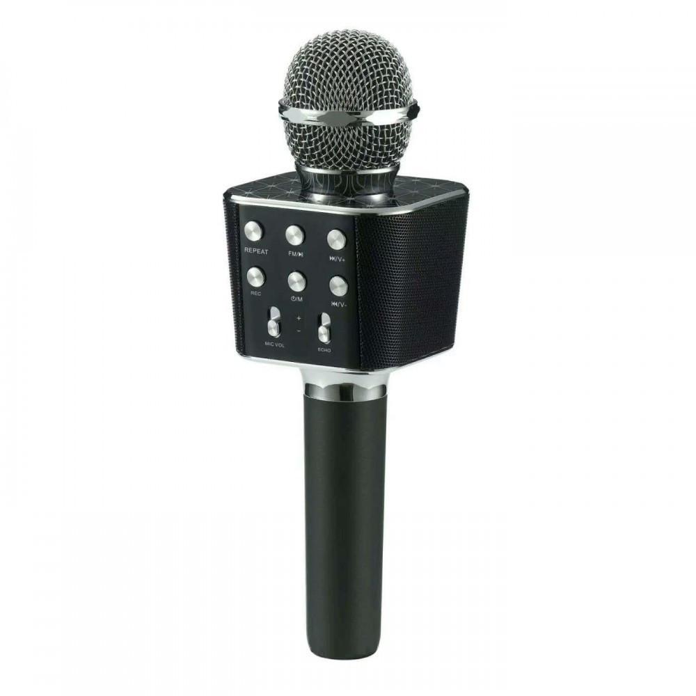 Беспроводной микрофон караоке блютуз WS-1688 Bluetooth Wster Черный 152583