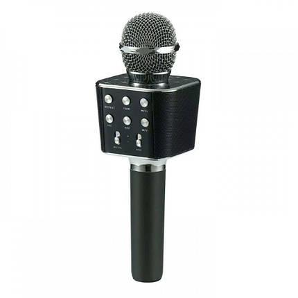 Беспроводной микрофон караоке блютуз WS-1688 Bluetooth Wster Черный 152583, фото 2