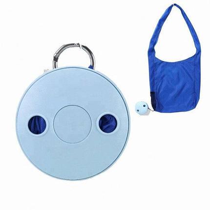 Складная компактная сумка-шоппер Shopping bag to roll up Синяя 182389, фото 2