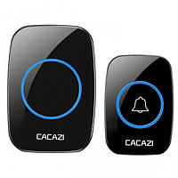 Беспроводной дверной звонок Cacazi A10 Черный 100112, КОД: 1455570