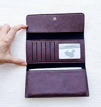 Женский клатч портмоне кошелек Pineapple бордовый 130375, фото 3