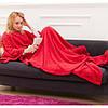 Плед з рукавами ковдру з флісу Snuggie червоний 183279, фото 2