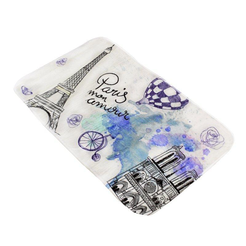Коврик в ванную комнату антискользящий хлопковый 45х75 см Bathlux Menara Eiffel 10153