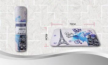 Коврик в ванную комнату антискользящий хлопковый 45х75 см Bathlux Menara Eiffel 10153, фото 3