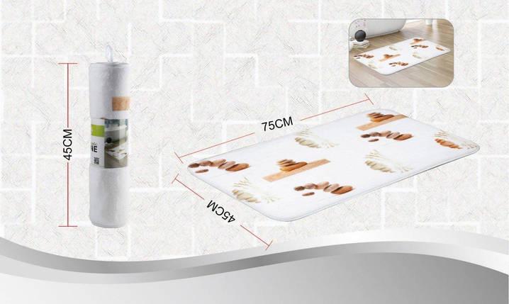 Коврик в ванную комнату антискользящий хлопковый 45х75 см Bathlux Stone 10052, фото 2