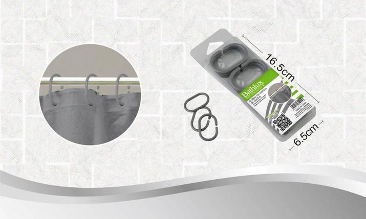 Кольца для шторки 12 шт. Bathlux Hojas 30015, фото 2