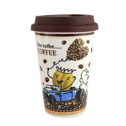 Кружка с силиконовой крышкой в подарочной упаковке Coffee, фото 2