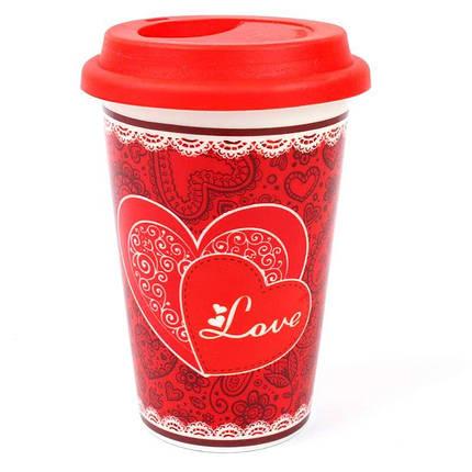 Кружка с силиконовой крышкой в подарочной упаковке Love 132042, фото 2