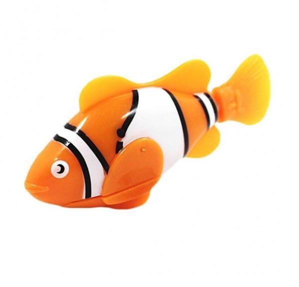 Электронная рыбка-робот для аквариума на батарейках Robofish Оранжевая 184063