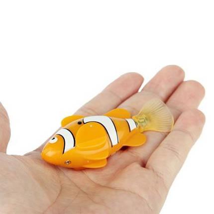 Электронная рыбка-робот для аквариума на батарейках Robofish Оранжевая 184063, фото 2