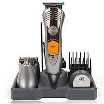 Набор для стрижки волос и бороды электробритва 7в1 Gemei GM-580 142154, фото 2