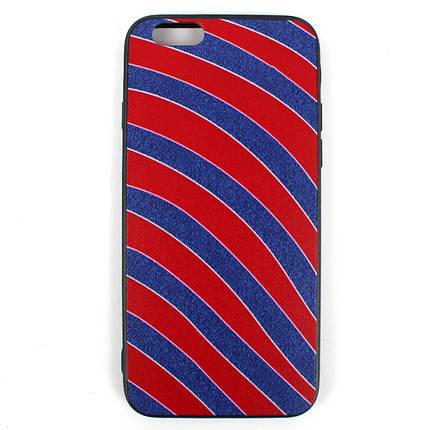 Чехол Геометрический микс iPhone 6 Красная полоска, фото 2