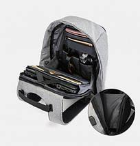 Умный рюкзак антивор Bobby XD Бобби с Usb зарядкой серый 130122, фото 2