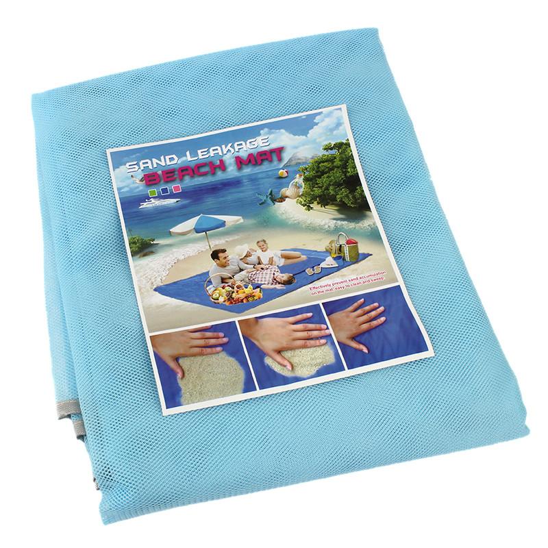 Подстилка для моря Песок 200 х 200 анти-песок Sand Free голубой 131604