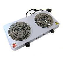 Электроплита Domotec MS 5802 Спираль D1001 2 конфорки 153992, фото 3
