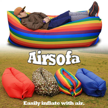 Надувной матрас Ламзак Air sofa Rainbow Радуга 150100, фото 2