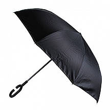 Зонт обратного сложения, антизонт, умный зонт, зонт наоборот Up Brella Бордовый 151023, фото 3
