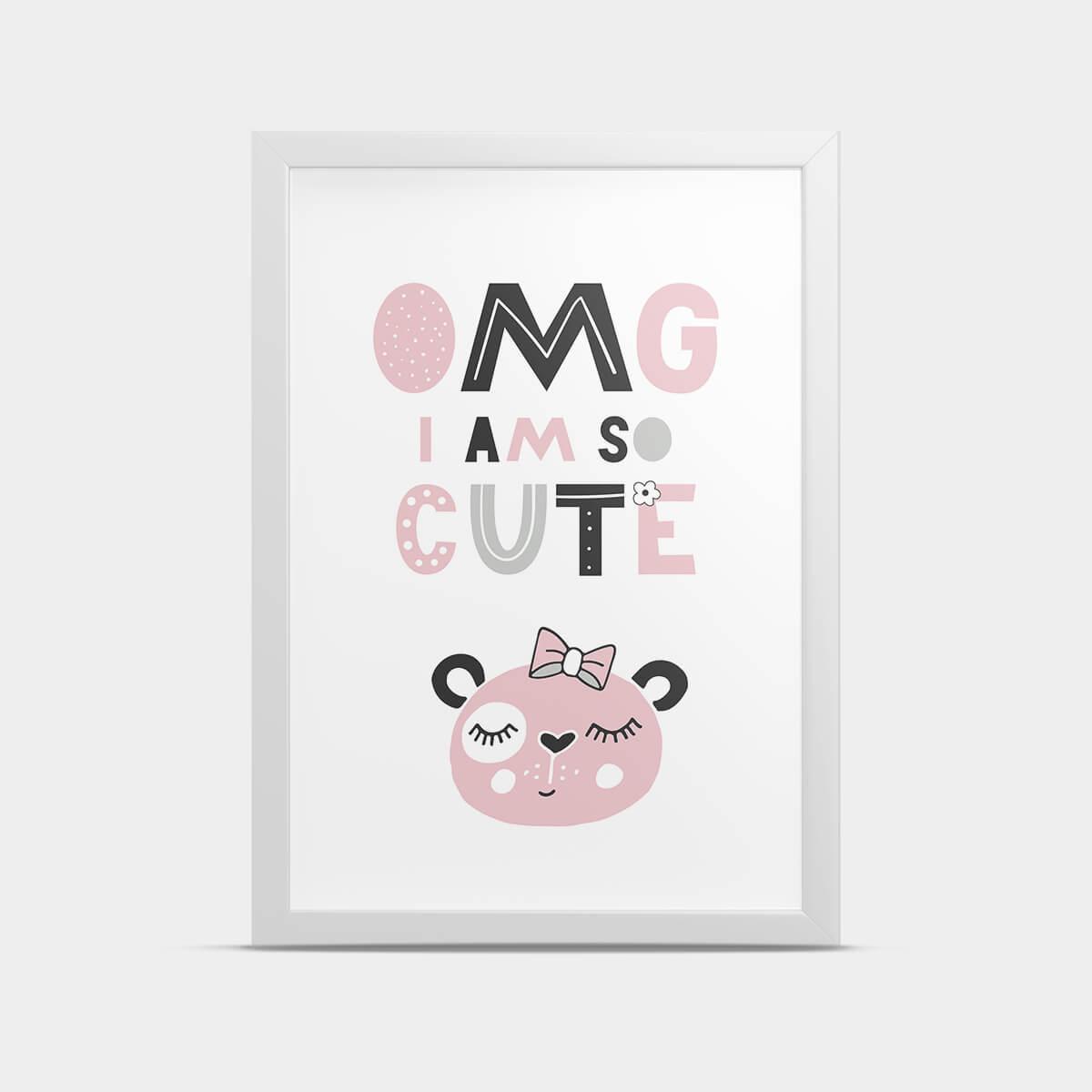 Постер Мишка Розовый 20*30 см