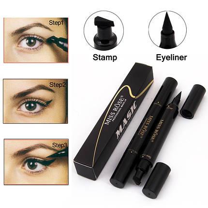 Двухсторонняя подводка штамп для глаз Magic Eyeliner Seal eyeliner Aiyi 154166, фото 2