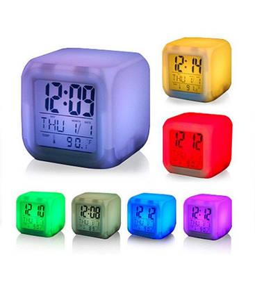 Настольные часы хамелеон Куб Color change 149736, фото 2