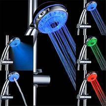 Лейка насадка для душа с сильным напором Led Shower 3 color 149584, фото 3